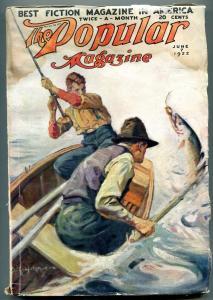 Popular Pulp Magazine June 7 1922- Fishing cover G