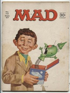 Mad Magazine #113 1967- jack in the box cover FAIR