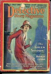 DETECTIVE STORY MAGAZINE-NOV 27 1926-LANDON-EDGAR WALLACE KREBS-good minus G-