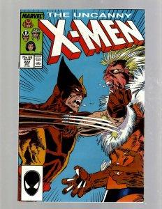 Uncanny X-Men # 222 NM Marvel Comic Book Colossus Angel Wolverine Storm JH6