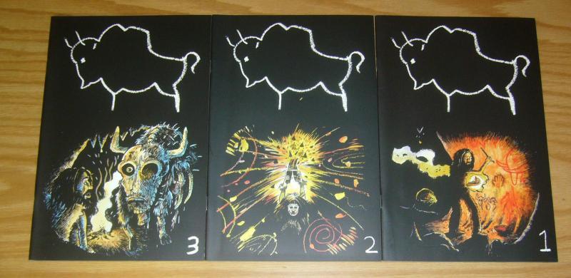 the Sanctuary #1-3 VF/NM complete series - OM comics - nate neal - cavemen set 2