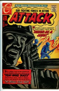 Attack #1 1971-Charlton-1st issue-WWII stories-D-Day-VF