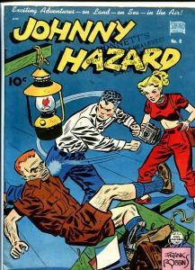 JOHNNY HAZARD #8-GOLDEN AGE COMIC-RARE FN/VF