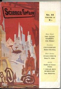 SCIENCE FANTASY #41-1960-EDGAR RICE BURROUGHS-ROBERT SILVERBERG-UK PULP THRILLS