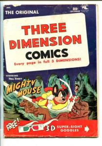 THREE DIMENSION COMICS #3-1955-MIGHTY MOUSE-good