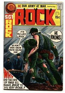 OUR ARMY AT WAR #231 comic book 1971-DC-SGT ROCK  joe kubert  FN