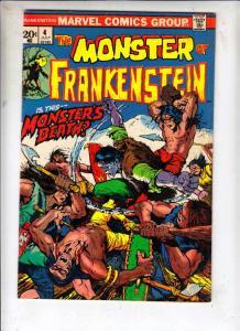 Frankenstein, the Monster of #4 (Jul-73) FN/VF Mid-High-Grade Frankenstein