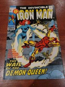 Iron Man #42 Demon Queen Bronze age Tuska art 1971 VF-