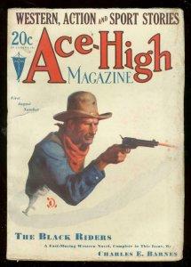 ACE-HIGH MAGAZINE 1st AUG 1930-WESTERN & SPORTS PULP VG/FN