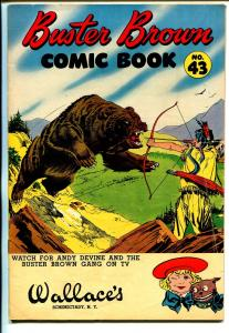Buster Brown  #43 1950's-adventure-humor-final issue-Indian cover-VG