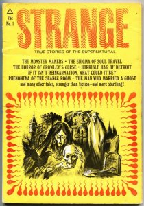 STRANGE #1-1971-TRUE STORIES OF THE SUPERNATURAL-PULP-CROWLEY-ESP-SOUL TRAVEL
