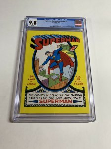 Superman Masterpiece Edition 1 Cgc 9.8 White Pages Vhtf 1999 Dc Comics