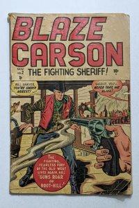Blaze Carson #2 (Nov 1948, Timely) Good 2.0 Syd Shores cover