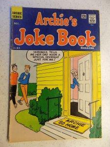 ARCHIE'S JOKE BOOK # 83 ARCHIE JUGHEAD VERONICA BETTY RIVERDALE CARTOON