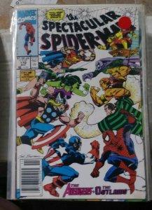 SPECTACULAR  SPIDER-MAN # 170 THE AVENGERS VS THE OUTLAWS SANDMAN SHE HULK