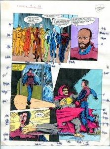 Elementals #9 Page #29 Original Color Guide Ken Feduniewicz