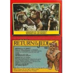 1983 Topps RETURN OF THE JEDI - OBSERVED BY THE EWOKS #102