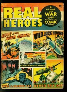 Real Heroes #11 1943- WWII War Comic & stories- FAIR