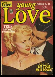 YOUNG LOVE #38-PHOTO COVER-SIMON AND KIRBY LAYOUTS G-