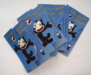 Felix the Cat Greeting Cards Set Spanish Felix el Gato Set Tarjetas Invitacion