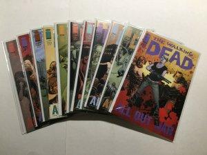 Walking Dead 116-125 Lot Run Set Near Mint Nm Image