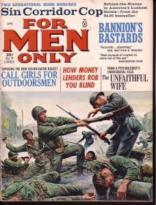 FOR MEN ONLY APR 1965 GOOD GIRL ART PULP FICTION WW II VG