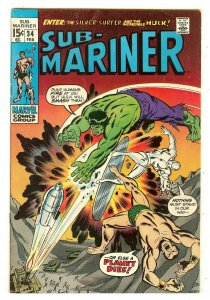 Sub-Mariner 34   Prelude to 1st Defenders story   Hulk & Silver Surfer crossover