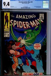 Amazing Spider-Man #49 CGC 9.4 WHITE pages  Vulture (Blackie Drago), Kraven