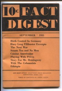 Fact Digest #1 9/1935-Rodale Press-1st issue-Lincoln-Huey Long-jokes-gags-odd...