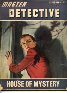 MASTER DETECTIVE--SEPT 1945-G-FAR STUDIOS COVER-MURDER-ASSASSIN-HURRICANES G