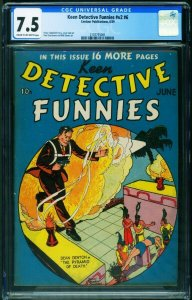 KEEN DETECTIVE FUNNIES Vol. 2 #6 CGC 7.5-1939-Rare comic book 2107755001