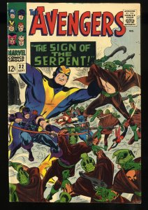 Avengers #32 VF- 7.5 White Pages 1st Bill Foster becomes Black Goliath!