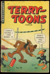 TERRY TOONS #78 1950-MIGHTY MOUSE-FUNNY ANIMAL VG