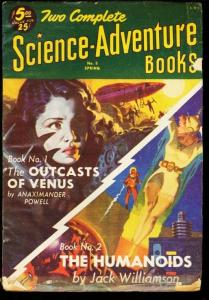 TWO COMPLETE SCIENCE-ADVENTURE BOOKS 1952 SPG #5 VENUS VG