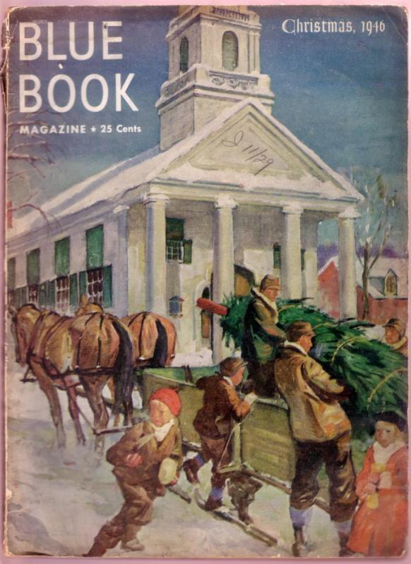BLUE BOOK-DEC 1946-HERBERT MORTON STOOPS CHRISTMAS-PULP G/VG