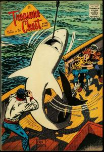 Treasure Chest Vol 20 #2 1964- Shark cover- Reed Crandall VG/FN