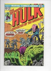 HULK #187, VG+, Gremlin, Marvel, 1968 1975, Incredible, more in store