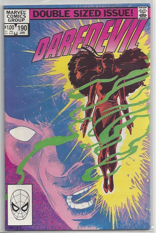Daredevil #190 Elektra Issue with Old School Frank Miller Autograph