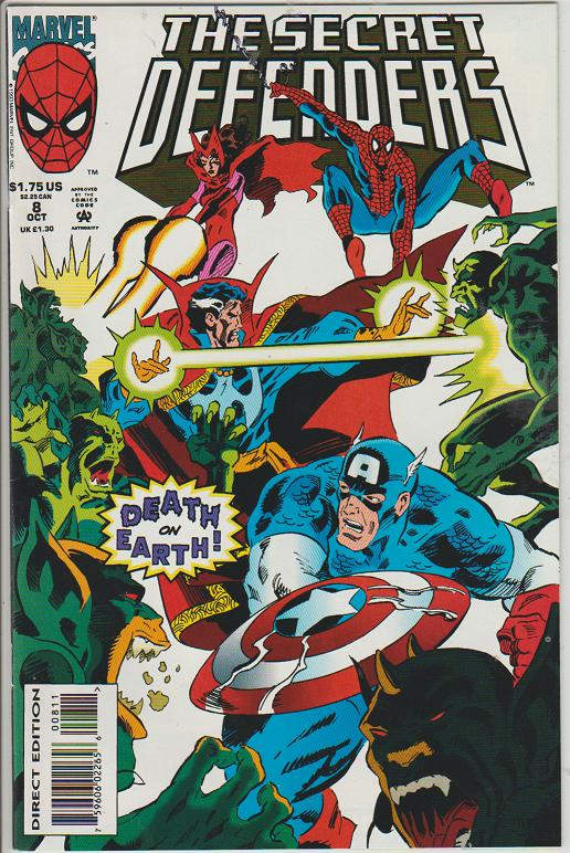 THE SECRET DEFENDERS #8 - CAPTAIN AMERICA - MARVEL - BAGGED & BOARDED