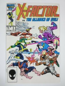 X-FACTOR #5 (Marvel, 6/1986) VERY FINE-NEAR MINT (VF-NM)  1st Apocalypse (cameo)