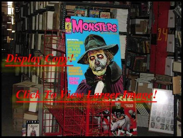 FAMOUS MONSTERS #109 CLASSIC 1970s V PRICE POSTER