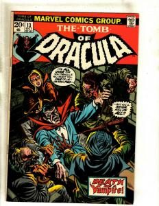 The Tomb Of Dracula # 13 VF Marvel Comic Book Blade Vampire Hunter Undead RS1