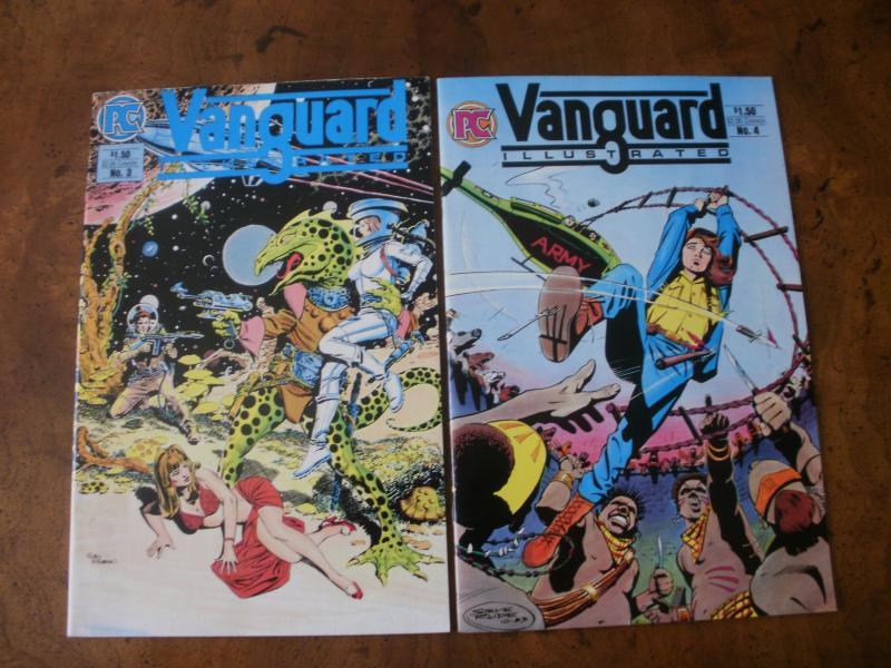 Vanguard Illustrated #3 #4 (Pacific Comics PC) 1984