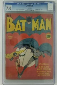 Batman #6 ~ 1941 DC ~ CGC 7.0 (FN/VF); 1st App. & Death of the Clock Maker