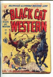 BLACK CAT WESTERN #18-1949-HARVEY-LEE ELIAS ART-SCARLET O'NEILL-SPICY-fr
