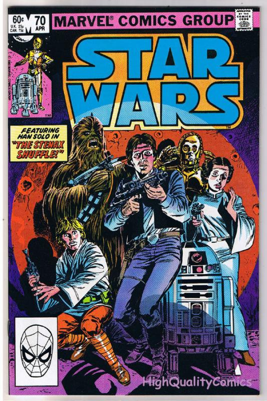 STAR WARS #70, NM-, Luke Skywalker, Darth Vader, 1977, more SW in store