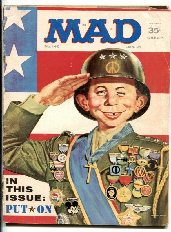 Mad Magazine #140 1971-Patton parody cover- G