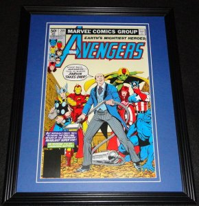 Avengers #201 Jarvis Takes Over Framed Cover Photo Poster 11x14 Official Repro