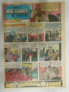 Mike Hammer Sunday Page by Mickey Spillane from 1/17/1954 Tabloid Page Size!