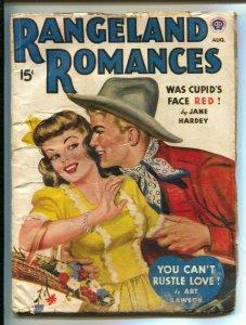 Rangeland Romances 8/1944-Popular-Good Girl Art cover-Girl fight interior art...